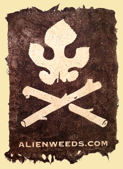 The alienweeds flag
